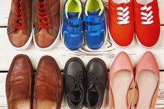 Verschillende soorten schoeisel stock foto