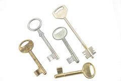 Verschillende soorten sleutels Royalty-vrije Stock Afbeeldingen