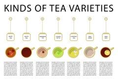 Verschillende soorten thee Stock Afbeeldingen