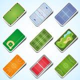 Verschillende speelgebieden Royalty-vrije Stock Afbeeldingen