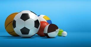Verschillende sportballen stock illustratie