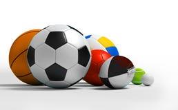 Verschillende sportballen vector illustratie