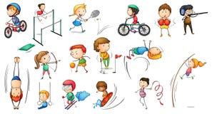 Verschillende sportenactiviteiten Royalty-vrije Stock Fotografie