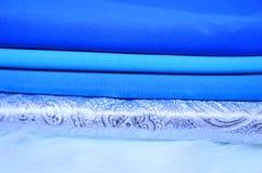 Verschillende stroken van stof Achtergrond textiel Stock Afbeelding