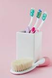 Verschillende tandenborstels royalty-vrije stock foto