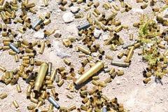 Verschillende type en grootte van kogels stock foto