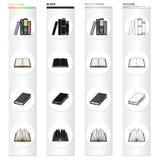 Verschillende types van boeken, literatuur, handboek, woordenboek Pictogrammen van de boek de vastgestelde inzameling in beeldver vector illustratie