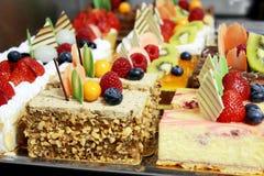 Verschillende types van cakes Royalty-vrije Stock Foto's