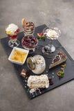 Verschillende types van desserts royalty-vrije stock foto's