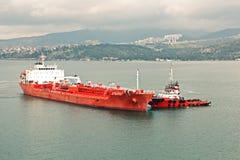 Verschillende types van droge lading, passagiers en containerschepen in motie en vastgelegd bij de haven van Izmir, Turkije stock foto