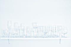 Verschillende types van glazen Royalty-vrije Stock Afbeelding