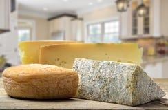 Verschillende types van kaas Stock Afbeelding