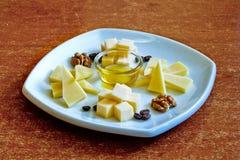 Verschillende types van kaas stock foto