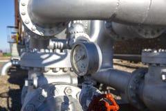 Verschillende Types van Kleppen en Indicatoren in Olieindustrie royalty-vrije stock afbeeldingen