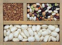 Verschillende types van korrel Stock Foto