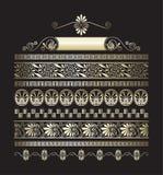 Verschillende types van naadloze gouden Griekse patronen Royalty-vrije Stock Afbeelding