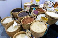 Verschillende types van rijst stock fotografie