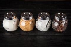 Verschillende types van suiker Royalty-vrije Stock Afbeeldingen