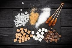 Verschillende types van suiker Royalty-vrije Stock Afbeelding