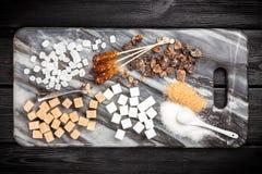 Verschillende types van suiker Stock Foto