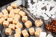 Verschillende types van suiker Royalty-vrije Stock Foto's