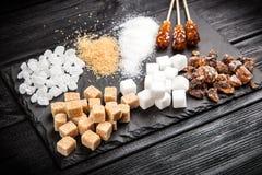 Verschillende types van suiker Stock Afbeelding