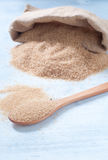 Verschillende types van suiker: bruine, witte en geraffineerde suiker Royalty-vrije Stock Afbeeldingen