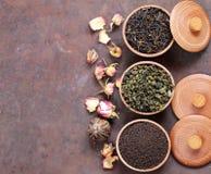 Verschillende types van thee stock foto's