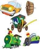 Verschillende types van voertuigen Royalty-vrije Stock Afbeeldingen