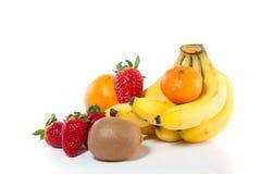 Verschillende types van vruchten Stock Afbeeldingen
