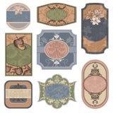 Verschillende uitstekende etiketten Royalty-vrije Stock Foto