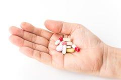 Verschillende van de de capsulehoop van Tablettenpillen de drugs van de de mengelingstherapie artsengriep Stock Afbeelding