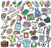 Verschillende vectorvoorwerpen Stock Fotografie