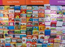 Verschillende Verjaardagskaarten Stock Foto's