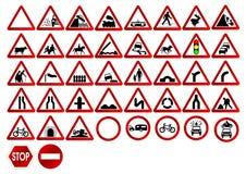 Verschillende verkeersteken stock illustratie
