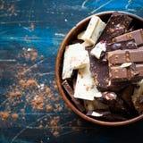 Verschillende verscheidenheden van chocolade Royalty-vrije Stock Fotografie
