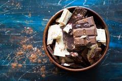 Verschillende verscheidenheden van chocolade Stock Fotografie