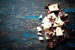 Verschillende verscheidenheden van chocolade Stock Afbeelding