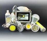 Verschillende versies van LEIDENE Lampen royalty-vrije stock fotografie