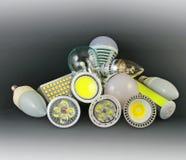 Verschillende versies van LEIDENE Lampen royalty-vrije stock afbeeldingen