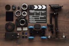 Verschillende videomateriaalmening van hierboven Stock Foto