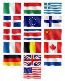 Verschillende vlaggen Stock Foto's