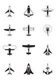 Verschillende vliegtuigen Royalty-vrije Stock Afbeeldingen