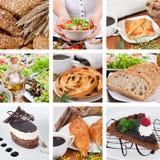 Verschillende voedselsamenstelling stock afbeelding