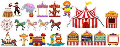 Verschillende voorwerpen van het circus Royalty-vrije Stock Afbeelding