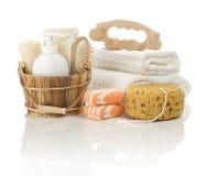 Verschillende voorwerpen voor het baden royalty-vrije stock fotografie