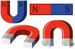 Verschillende vormen van magneten vector illustratie