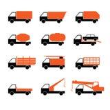 Verschillende vrachtwagens Royalty-vrije Stock Afbeeldingen