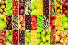 verschillende vruchten en groenten Royalty-vrije Stock Afbeelding