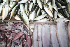 Verschillende zeevissen op de lijst Royalty-vrije Stock Fotografie